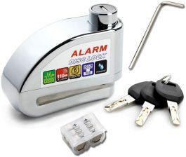 Vinz Elbroes Alarm Schijfremslot 6mm - Zilver
