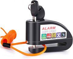 Vinz Elbroes Alarm Schijfremslot 6mm - Zwart