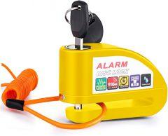 Vinz Elbroes Alarm Disc Lock - Yellow
