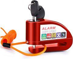 Vinz Elbroes Alarm Disc Lock - Red