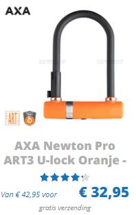 AXA Newton pro ART 3 U-Lock oranje