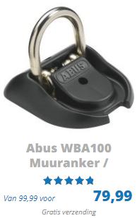 ABUS muuranker WBA100 ART 4 gekeurd