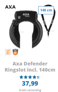 AXA Defender ringslot incl steekketting