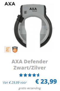 AXA defender fietsslot ART 2 zilver zwart